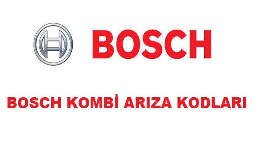 Bosch kombi arıza kodları ve çözümü